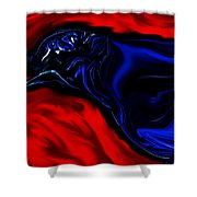 Wise Old Crow In Strange Light. Shower Curtain