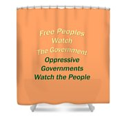 Wise Sayings About Government 5004.02 Shower Curtain