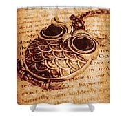 Wise Words And Keepsakes Shower Curtain