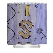 Wish Acrylic Watercolor Shower Curtain