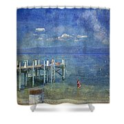 Wish You Were Here Chambers Landing Lake Tahoe Ca Shower Curtain