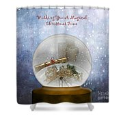 Wishing You A Magical Christmas Time Shower Curtain