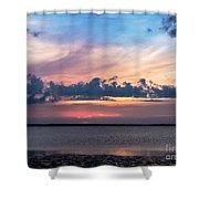Wispy Cloud Bay Shower Curtain