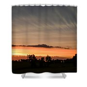 Wispy Clouds At Sunset Shower Curtain