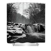 Wissahickon Snow Shower Curtain