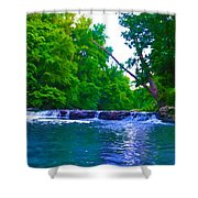 Wissahickon Waterfall Shower Curtain by Bill Cannon