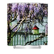 Wisteria And Birdhouse Shower Curtain