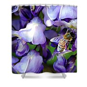 Wisteria Bee Shower Curtain