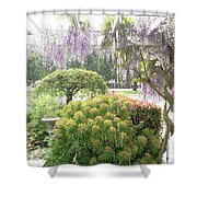 Wisteria In Hailstorm Shower Curtain