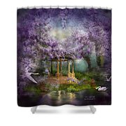 Wisteria Lake Shower Curtain