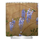 Wisteria Shower Curtain by Leah  Tomaino
