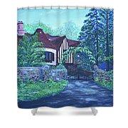 Wisteria Mansion Shower Curtain