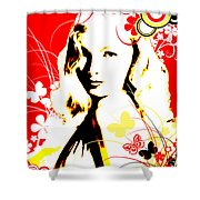Wistful Flutter Shower Curtain