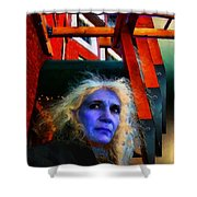 Witch On The Run Shower Curtain