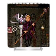 Witch Ritual Shower Curtain