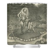 Witch Woman Shower Curtain