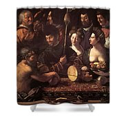 Witchcraft Allegory Of Hercules 1535 Shower Curtain