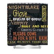 Witchcraft Typography Shower Curtain