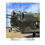 Witchcraft Wwii Bomber Shower Curtain