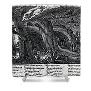 Witches Sabbath, 1630 Shower Curtain