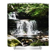 With A Full Heart Shower Curtain