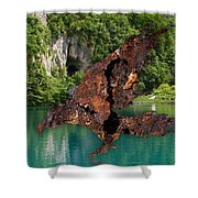 With Air I Rise Shower Curtain
