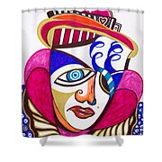 With Deep Thoughts And Tears - II Shower Curtain