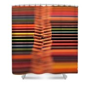 With Design Elements In Rows Shower Curtain