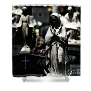 With Every Bead A Prayer Shower Curtain