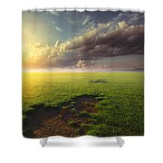 With Joy Fulfilled  Shower Curtain