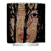 With Love.. Shower Curtain