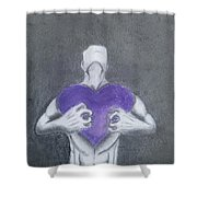 With My Heart In My Hands  Shower Curtain
