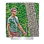 With Purpose Shower Curtain