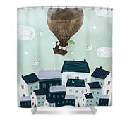 With The Birds Shower Curtain