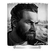 With Theo Support - There Is No Stopping Him Shower Curtain