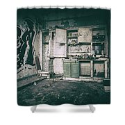 With Time It All Falls Apart Shower Curtain
