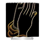 With Trembling. Hands Shower Curtain