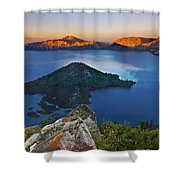Wizard At Sunset Shower Curtain