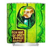 Wizard Of Oz Gate Keeper  Shower Curtain