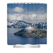 Wizard With Partial Snow Mantle Shower Curtain
