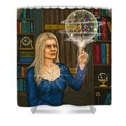 Wizards Library Shower Curtain