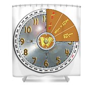 Wizzard Wheel Shower Curtain