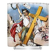 W.j. Bryan: Cross Of Gold Shower Curtain