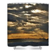 Wny Spring Sunset Shower Curtain