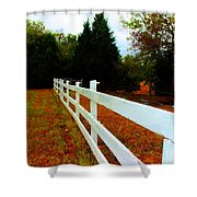 Wodden Fence  Shower Curtain