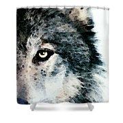 Wolf Art - Timber Shower Curtain by Sharon Cummings