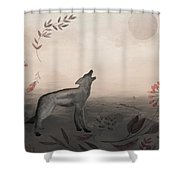 Wolf At Twilight Shower Curtain