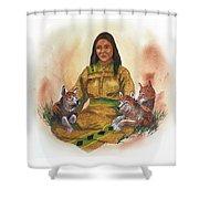 Wolf Clan Mother Shower Curtain