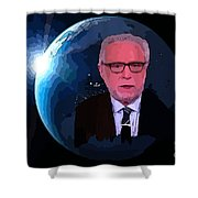 Wolf Covers The World Shower Curtain