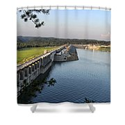 Wolf Creek Dam Shower Curtain by Amber Flowers